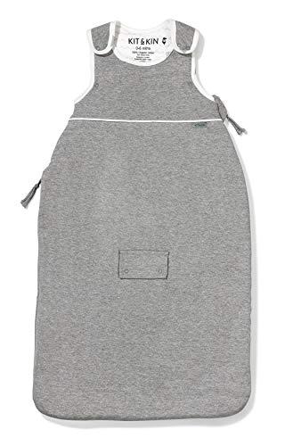 Kit & Kin Baby Schlafsack Unisex Design 100% Bio-Baumwolle (grau, 6-18 Monate)