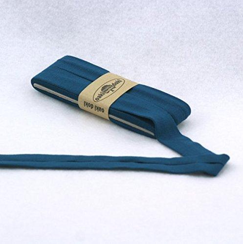 Oaki Doaki Jersey-Einfassband 3m, elastisches Schrägband, Breite: auf 2cm vorgefalzt, petrol (211)
