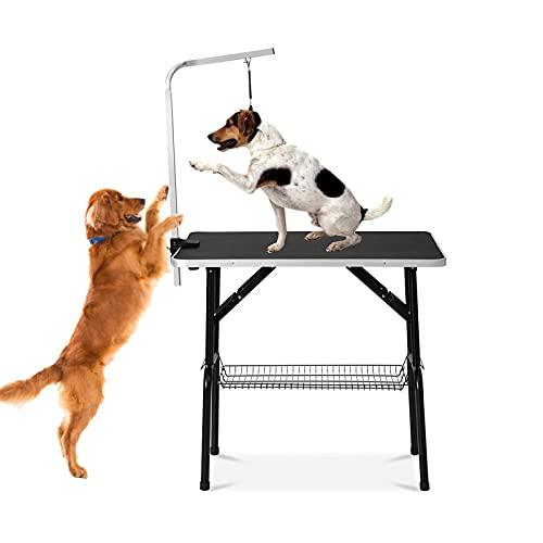 DHYBDZ Mesa de Aseo para Perros y Gatos, Mesa de Corte Plegable...
