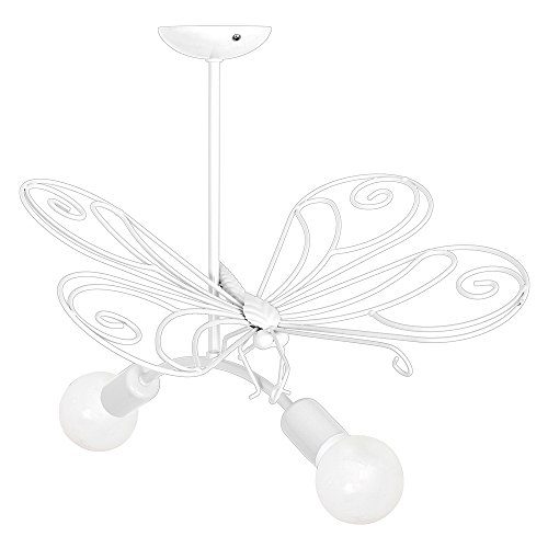 MOTYL II / Farfalla Bianco Lampada per bambini Bambini luce Lampadari Lampada a sospensione