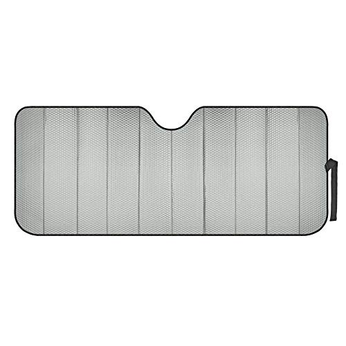 Motor Trend Front Windshield Sun shade - Accordion Folding Auto Sunshade for Car Truck SUV 58 x 24...