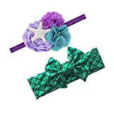Baby Starfish Mermaid Headbands with Flower Hairband Girls Hair Accessories JB321 (2 Pcs-Set C)