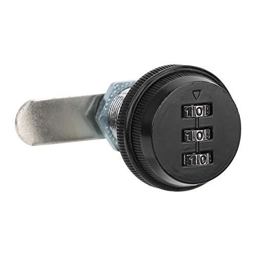Cerradura de combinación de tres dígitos para gabinete, cerradura de cilindro antirrobo,...