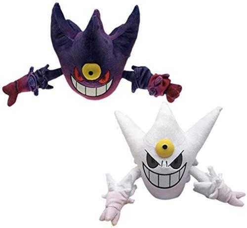 2Pcs/30Cm Anime Mega Gengar Plush Stuffed Dolls Toys Soft Shiny Haunter Plushie Dolls Cartoon Kids Gift Toy