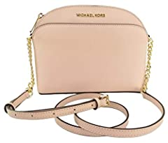 Made of Saffiano Leather with Logo detail on front; Top zip closure; Front and back open pocket Open compartment with 1 zip pocket and 1 open pocket Adjustable crossbody strap of 22-24 Inches drop; Gold hardware Measurements: Length: 8.75 x Height: 6...