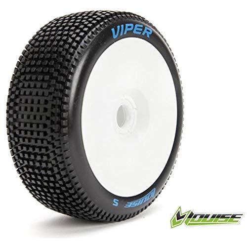 LOUISE B-Viper Soft Reifen Set 1/8 Offroad WEIß