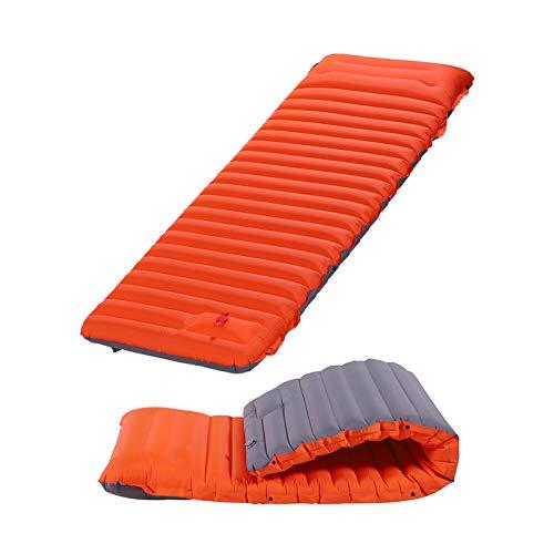 WYYUE Almohadillas para Acampar Autoinflables de 10 Cm de Grosor, Almohadilla para Dormir de PVC Impermeable para Acampar con Almohada para Tienda, Senderismo y Mochileros