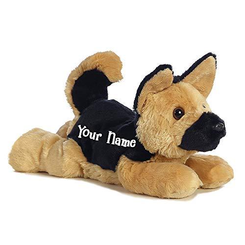 Personalized Flopsies German Shepherd Bismarck Puppy Dog Plush Stuffed Animal Toy with Custom Name