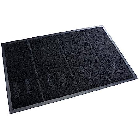 acerto 30211 Alfombrilla antisuciedad Premium Home Negro 40x60cm * Extremadamente Duradera * Exterior e Interior * A Prueba de Escarcha * Libre de PVC - Clean Mat Frontal Clean Mat Diseño de Alfombra