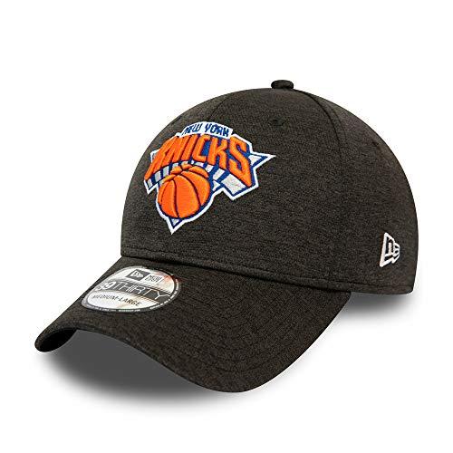 New Era NBA NEW YORK KNICKS Black Base Team Pop 39THIRTY Stretch Fit Cap, Größe:S-M
