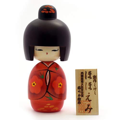 Usaburo Kokeshi Hohoemi, muñecas Tradicionales japonesas