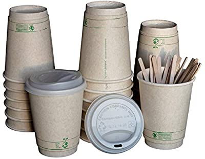 LB Living Balance Compostable Cups with Lids