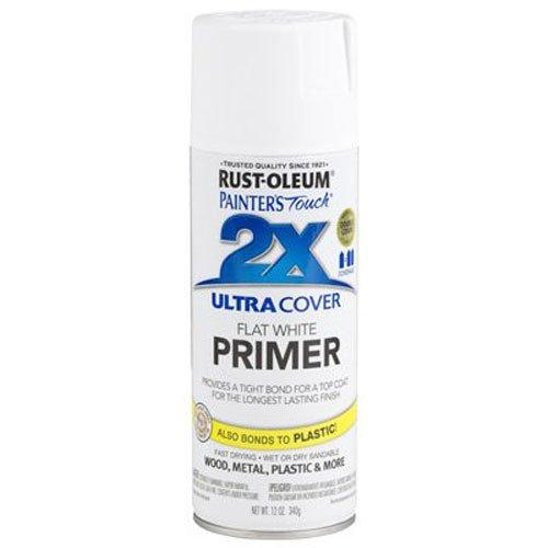 Rust-Oleum 249058 Painter's Touch Multi Purpose Spray Paint, 12-Ounce, White Primer