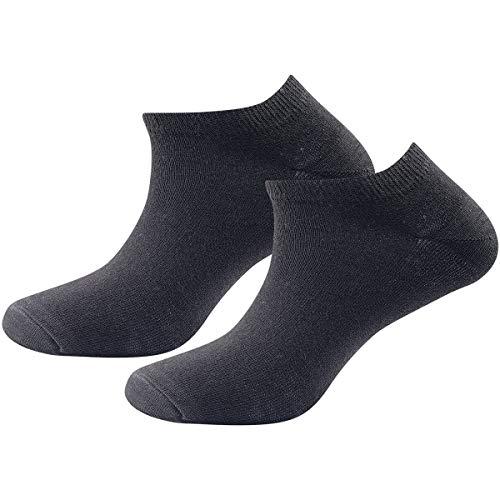 Devold Unisex Daily Shorty 2pk Socken, schwarz, 41-46
