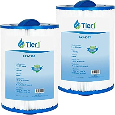 Tier1 Replacement for Maax Spas of Canada PAS35P, Pleatco PMAX50, Filbur FC-0300, Unicel 5CH-35 Filter Cartridge for Maax Spas of Canada 2 Pack