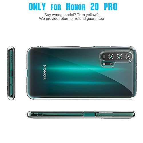 YUNRAY Honor 20 Pro Hülle Transparent Slim Silikon Case Cover Druchsichtig Dünn Handyhülle Kratzfest Schutzhülle Flexible TPU Crystal Clear Hülle für Honor 20 Pro, 2019 Version (Transparent) - 2