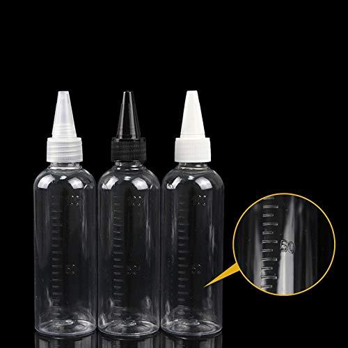 LSB-pipeta del laboratorio, 1pcs Calidad de PET transparente vacío Reactivo de ojos frasco gotero líquido de la pipeta de 100 ml botellas rellenables cosméticos (Color : Plastic , tamaño : 100ml) : Amazon.es: Hogar