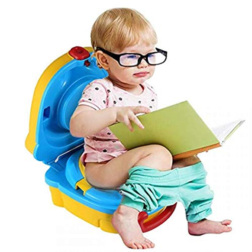 Pot de voyage pour enfants, siège de toilette portable pour bébé, siège de toilette, urinoir de voiture portable Taille unique jaune