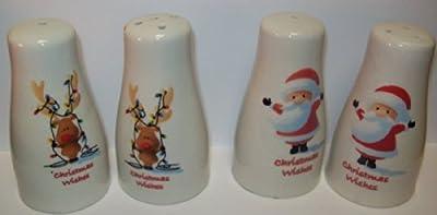 Premier Christmas Salt & Pepper Pots - Santa Or Reindeer Sent At Random by Premier