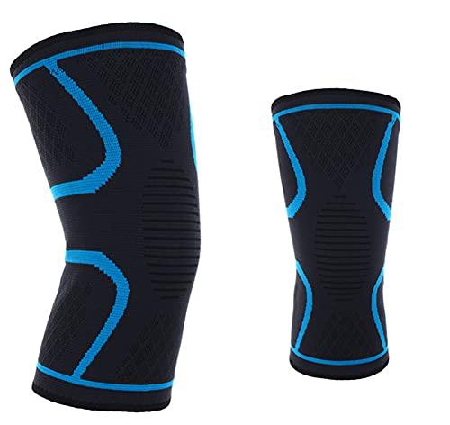 Ning Night Professionelle Kniepads, Knieunterstützung Brace Open-stabilisierte atmungsaktive Kniepads für Tanzen/Yoga/Sport/Übung/Volleyball 2Packs,B,M