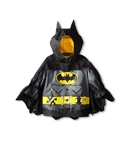 Western Chief Kids Boy's Batman Caped Crusader Raincoat (Toddler/Little Kids) Black Fa14 5-6 Little Kids
