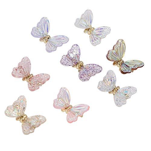 Pegatinas de uñas, 8 piezas de diseño de bricolaje exquisito adorno de uñas, hecho a mano para niñas y mujeres