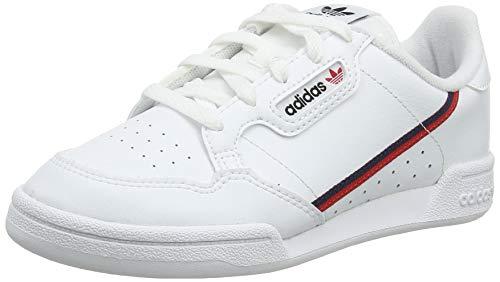 adidas Unisex-Kinder Continental 80 C Sneaker, Weiß (Footwear White/Scarlet/Collegiate Navy 0), 32 EU