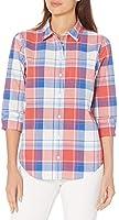 Amazon Essentials Classic-Fit 3/4 Sleeve Poplin Shirt Athletic-Shirts Donna