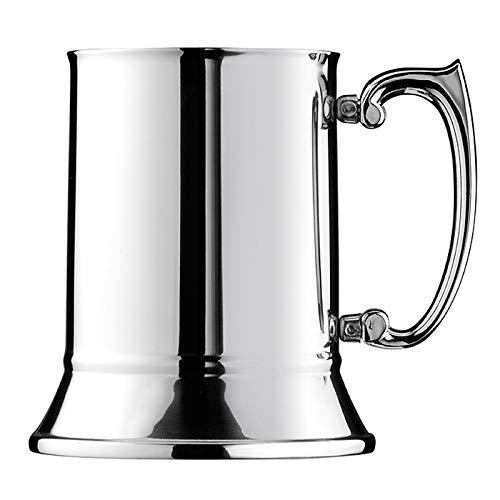 HCHD 450ml Tankard Stein Doppia dell'Acciaio Inossidabile Boccale Birra Tazze Cocktail Colazione Latte con Impugnatura Coffee Cup Strumenti Bar