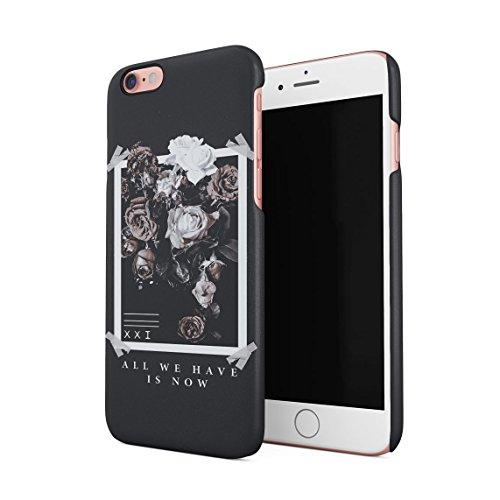 all We Have Have Is Now Pale Bianca & Rose Wild Roses Tumblr Custodia Posteriore Sottile in Plastica Rigida Cover per iPhone 6 & iPhone 6s Slim Fit Hard Case Cover