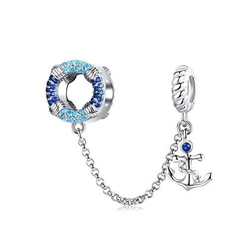 GaLon Encanta Granos, de Plata S925 Marina Vela Edad DIY Perlas platinados Colgante de joyería de los Accesorios compatibles con Pandora y Pulseras Europeas Collares