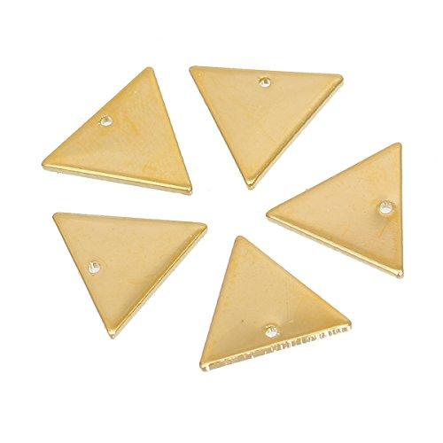 SiAura Material ® - 10x Dreieck Anhänger Goldfarben, 14 x 12 mm