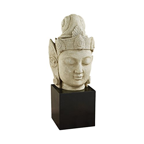 Design Toscano The Asian Goddess Yuan-Yin Sculptural Bust, Gothic Stone