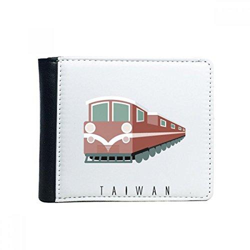 Reis Taiwan Trein Flip Bifold Faux lederen portemonnee multifunctionele kaart portemonnee cadeau