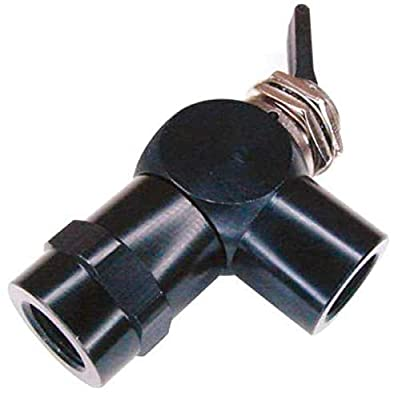 Toggle Valve, NC, 1/8 in, FNPT, Brass, 3 Way by PNEUMADYNE INC