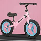 12' Bicicleta de Equilibrio para Niños, Bicicleta para Niños 2 Años-6 Años, sin Pedales con M de Acero Bicicleta de Equilibrio para Niños Altura Sillín Ajustable de Altura/A