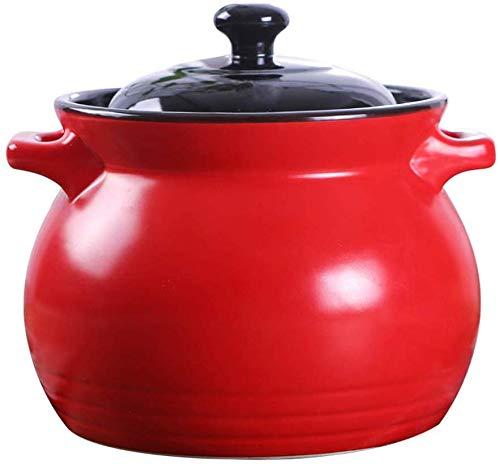 Küchenwaren Kochgeschirr aus Gusseisen Bottom Dutch Oven, Hochtemperaturbeständige Offene Flammen Gasherd 6L geeignet for alle Arten von Öfen leicht zu reinigen Health Geschenke for Familie