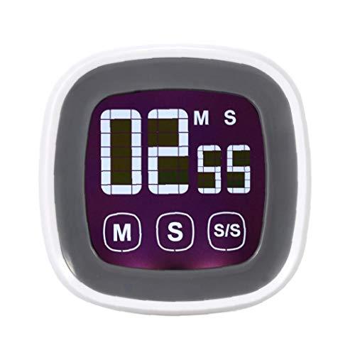 JRXyDfxn Fleisch-Thermometer-Digital-Grill Ofen Kochen Thermometer LED-Bildschirm-Lebensmittel Edelstahl Sonden für Grill Küche rösten Grau TS-BN54