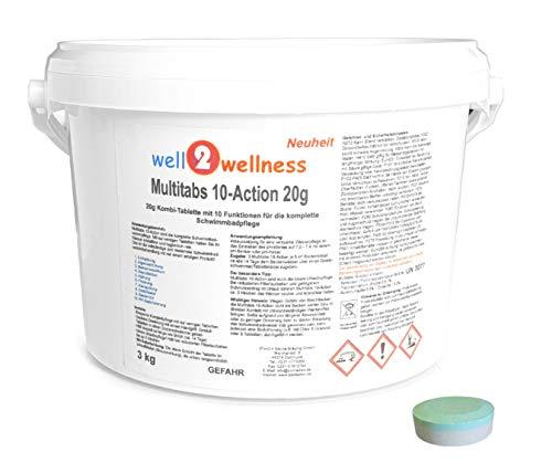 well2wellness Chlor Multitabs 10-Action 20g mit 10 Funktionen - 3,0 kg