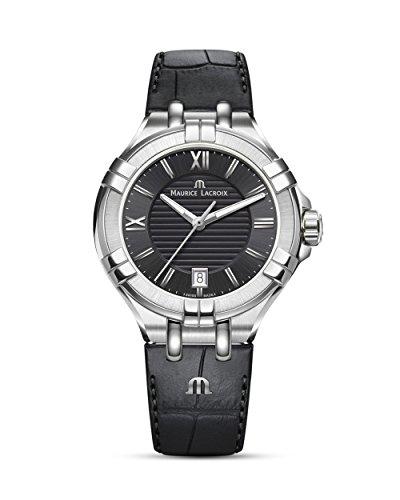 Maurice Lacroix Damen Analog Quarz Uhr mit Leder Armband AI1006-SS001-330-1