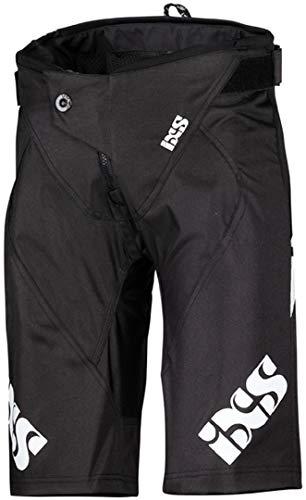 IXS Unisex-Erwachsene Race Kids Shorts Black KS (128) Hose, Schwarz, S