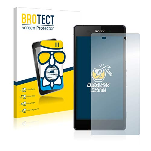 BROTECT Protector Pantalla Cristal Mate Compatible con Sony Xperia Z2 D6503 Protector Pantalla Anti-Reflejos Vidrio, AirGlass