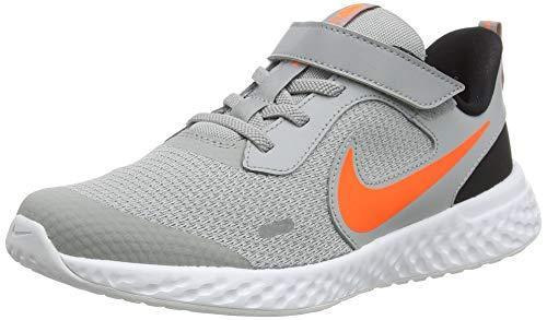 Nike Zapatillas de correr unisex para niños Revolution 5., color Gris, talla 30 EU