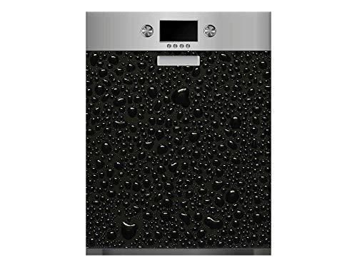 Vinilo para Lavavajillas Agua Refrescante Negro | Varias Medidas 65x75cm | Adhesivo Resistente y de Fácil Aplicación | Pegatina Adhesiva Decorativa de Diseño Profesional