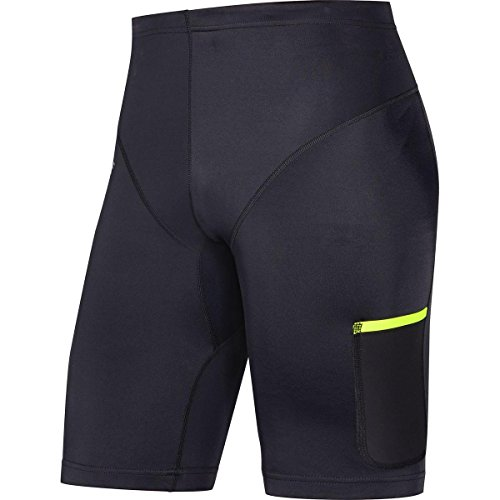 GORE RUNNING WEAR Mallas de correr para hombre, GORE Selected Fabrics, FUSION mid, Talla XL, Negro, TMULTR99006