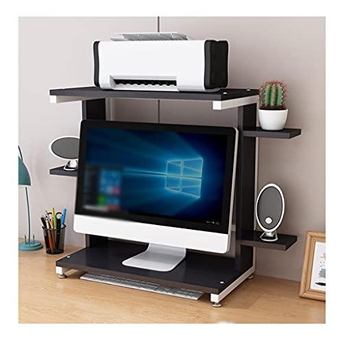 Soportes para impresoras Tabla de impresora integrada de soporte de impresora de escritorio, bastidor de almacenamiento de escritorio de marco de metal, utilizado para la sala de estar de oficina máqu