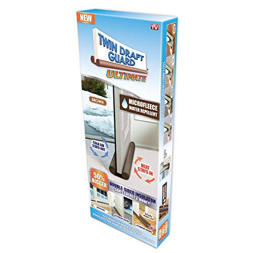 Twin Draft Guard Ultimate Draft Stopper, Waterproof, All Year Round Insulator, 2 Pack (1 Pack)
