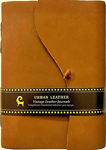 Diario de piel para escribir – regalo hecho a mano para uso en la oficina, libro de arte, dibujo, cuaderno de bocetos, diario de viaje, organizador personal para escribir – 7 pulgadas
