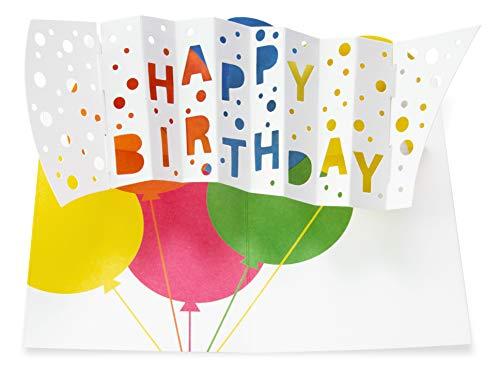 MoMA Happy Birthday pop-up kaart verjaardagskaart, kleurrijk, 15, 8 x 11, 4 cm