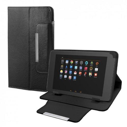 eFabrik Tablet Tasche für TrekStor SurfTab Ventos 8.0 20,3 cm (8 Zoll) Cover Case Schutztasche Zubehör Schutzhülle Leder-Optik schwarz